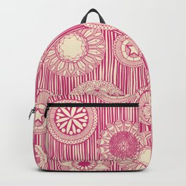 mandala cirque spot pink cream Backpack