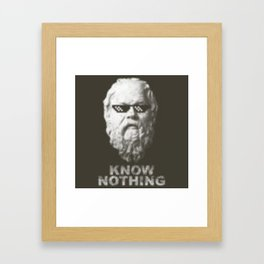 Know Nothing Framed Art Print