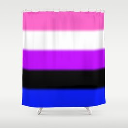 Genderfluid Pride Flag Shower Curtain