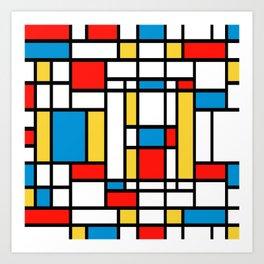 Tribute to Mondrian No2 Art Print
