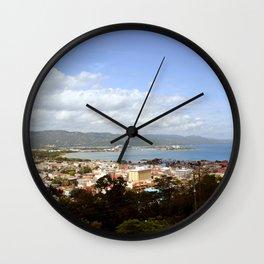 Jamaican Harbor Wall Clock