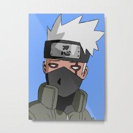 Annoyed Ninja Metal Print
