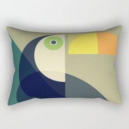 Mid Century Toucan Rectangular Pillow