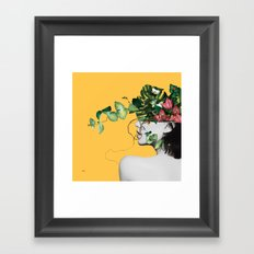 Lady Flowers Framed Art Print