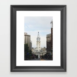 Philadelphia City Hall from the Parkway Framed Art Print