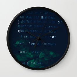 """""""Conquest of the Useless"""" by Werner Herzog Wall Clock"""