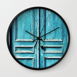 Blue Door Wall Clock