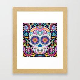 Sugar Skull (Cosmos) Framed Art Print