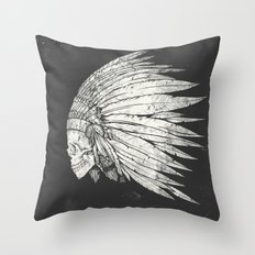 Indian Skull Throw Pillow