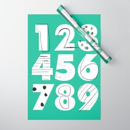 Funky Numbers Wrapping Paper