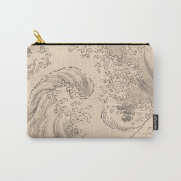Wave by Katsushika Hokusai 1760–1849, Japanese Carry-All Pouch