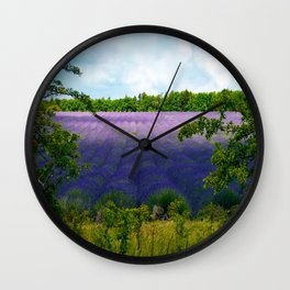 Summertime Lavender Wall Clock