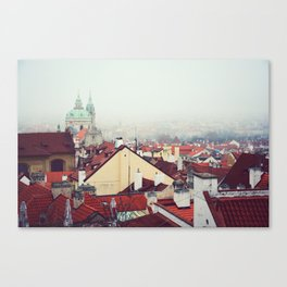 Prague rooftops. Canvas Print