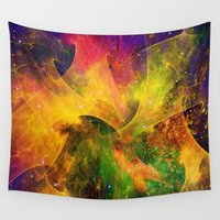 blanket Wall Tapestries featuring Blanket of Stars by Klara Acel