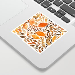Autumn watercolor leaves Sticker
