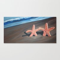 starfish Canvas Prints featuring Starfish by Lark Nouveau Studio