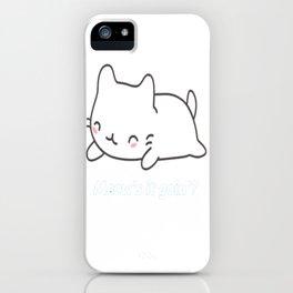 Cute _ Funny Cat Pun iPhone Case