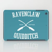 ravenclaw iPad Cases featuring Hogwarts Quidditch Team: Ravenclaw by IA Apparel