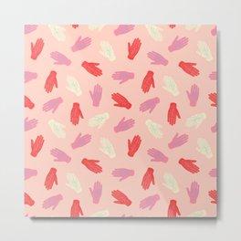 Palmistry Pattern in Peach Metal Print