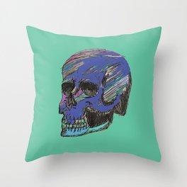 Mr. Jewel Skull Throw Pillow