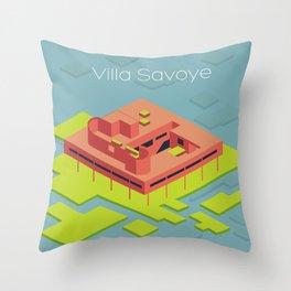 Villa Savoye and Le Corbusier Throw Pillow