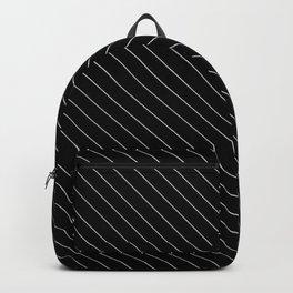 Minimal Diagonal Black and White Stripes Backpack