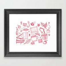 Tea things Framed Art Print