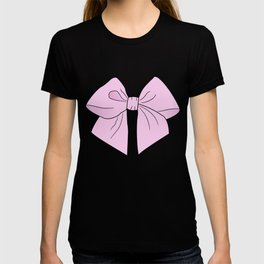 Ice Cream Pink Vector Bow T-shirt