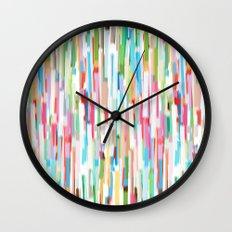 vertical brush strokes  Wall Clock