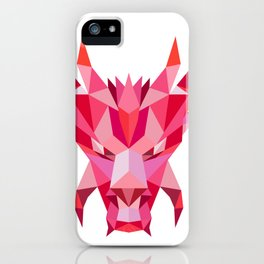 Dragon Head Front Low Polygon Style iPhone Case