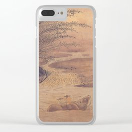Sesshu Toyo - Ox Herd after Li Tang (late 15th Century) Clear iPhone Case