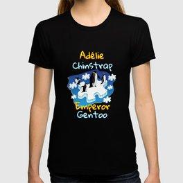 Penguin Adélie Chinstrap Emperor Gento Autism T-shirt