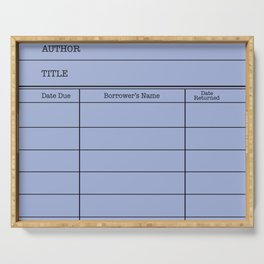 LiBRARY BOOK CARD (twilight) Serving Tray
