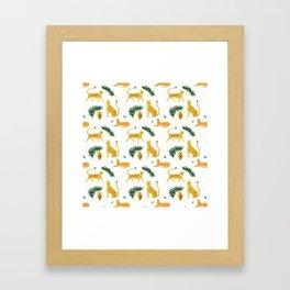 Big Cat Party Framed Art Print