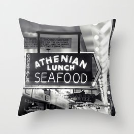 Authentic Seafood Throw Pillow