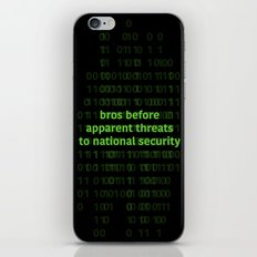 bros before apparent threats to national security iPhone & iPod Skin