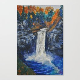 Rushing Fall Canvas Print