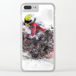 High Speed Motorcycle Racer Clear iPhone Case