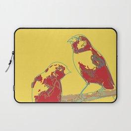 Abstract Sunshine Bird Illustration Laptop Sleeve