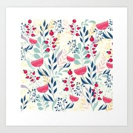 Beautiful Flowers Pattern Art Print