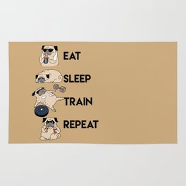 Eat Sleep Train Repeat Rug