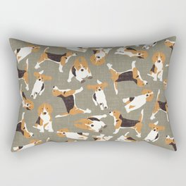 beagle scatter stone Rectangular Pillow