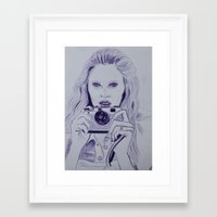 photographer Framed Art Prints featuring Photographer by MarinaSH