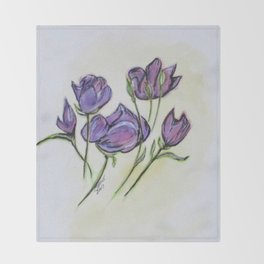 Water Color Pencil Exercise Throw Blanket