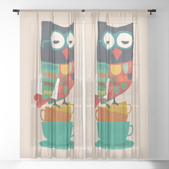 Morning Owl Sheer Curtain