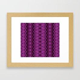 Blueberry stripes Framed Art Print