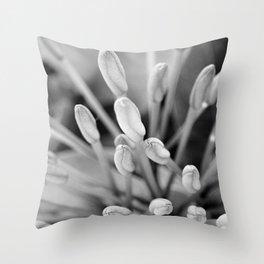 Buds of Life Macro Throw Pillow