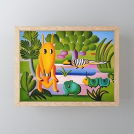Classical Masterpiece 'A Cuca' by Tarsila do Amaral Framed Mini Art Print