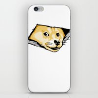doge iPhone & iPod Skins featuring Ceiling Doge by Jimiyo