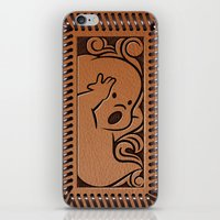 wallet iPhone & iPod Skins featuring Little Ghosty Wallet by Billy Davis